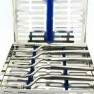 5 Pcs Sinus Lift Osteotomes Dental Implants Kit Concave Tip with Cassette PREMIUM TOOLS