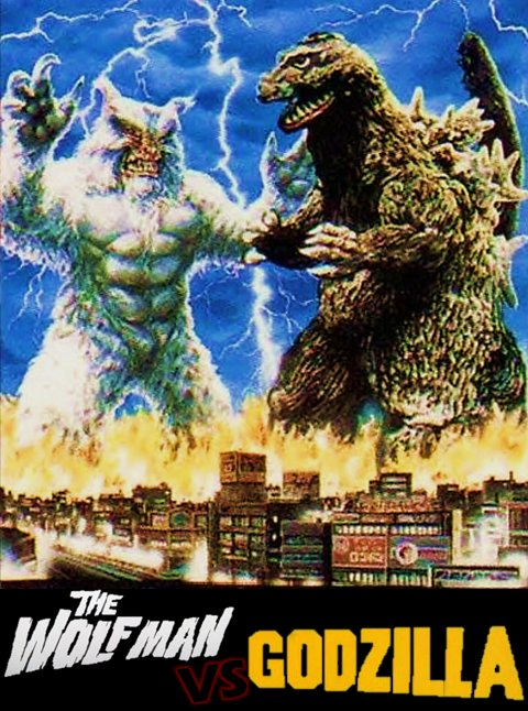 The WOLFMAN VS GODZILLA Monster DVD Region 1 Rare