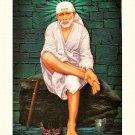 Shirdi Sai Baba Sparkle Print Wall Sticker Poster Without Frame (20 X 28 Inches)