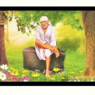 Sai Baba Sparkle Print Wall Sticker Poster Without Frame (20 X 28 Inches)