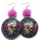 Day of the Dead Earrings  - FREE SHIPPING