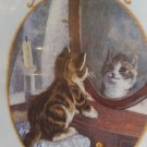"Kitten Reflection Crewel Embroidery Kit 1994 Dimensions EX Lrg chart 8"" x 10"""