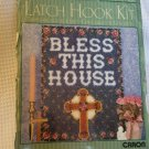 """Bless This House Caron Natura Latch Hook Kit 20"""" x 27"""" Cross see pics"""