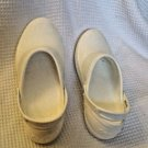 womens size 10 Crocs Mercy White non slip sole with strap Ultralite
