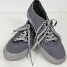 Women's Vans Off The Wall Gray canvas grey soles shoes Size 7.5 lightly worn