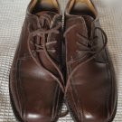 mens dockers ProStyle brown 11W lace up shoes leather upper