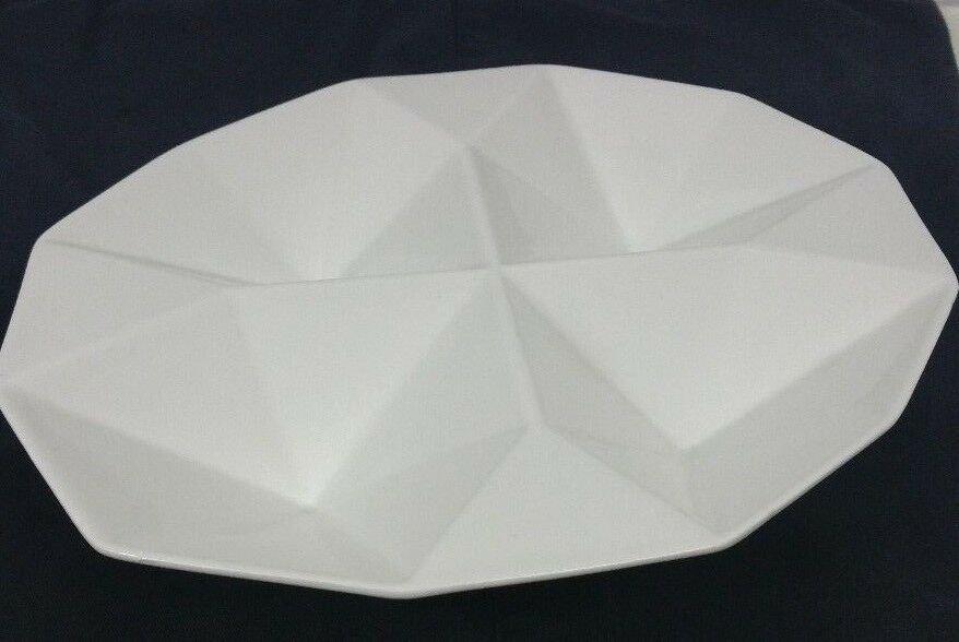Vintage KAJ FRANCK Arabia Finland ORIGAMI White MCM Ceramic Dish Relish Tray