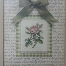 "Janlynn Pink Rose cross stitch kit with mat  fits 8"" x 10"" frame size #115556"