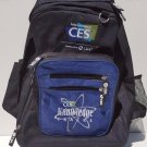 Rolling backpack from CES convention Las Vegas black