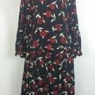 Elisabeth size 20 2 piece floral red black dress long sleeve vintage modest