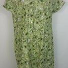 Eriica Brooke sz 22 green print dress NWT short sleeves 100% cotton vintage look