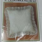 """Vintage Candlewick pillow kit Birds and Heart with tulip 14"""" x14""""  CW03 MH Yarns"""