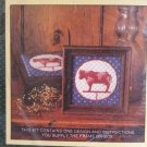 """Vintage Sunset Weather Vane Cow Needlepoint Kit #5516 5""""x5"""" muted red white blue"""