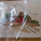 Sunset Stitchery Country Barn Embroidery Kit Vintage 1977 #2481 Barbara Jennings