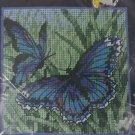 Dimensions #7183 Butterfly Duo Needlepoint Kit  1998  Blue butterflies