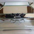 Beveled mirrored keepsake box large home decor blue velvet interior trinket