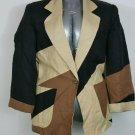 International Scene size 10 brown patchwork blazer fully lined front pockets
