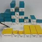 Math Manipulatives Learning tools Solid and heavy over 500 pieces Blue Yellow