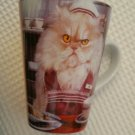 "A grumpy cat Latte coffee mug ""Happy Happy Joy Joy"" Christmas"