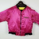 vintage reversible L Tropicana jacket pink/black some flaws see pics