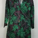 womens XL to 2X Green Coat or jacket looks like crushed satin lightweight