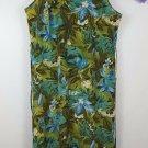 womens plus 24 sleeveless Carolina Colours green floral pattern dress