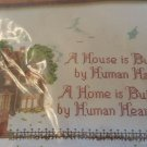 VINTAGE THE CREATIVE CIRCLE #1607  VICTORIAN HOUSE COUNTED CROSS STITCH