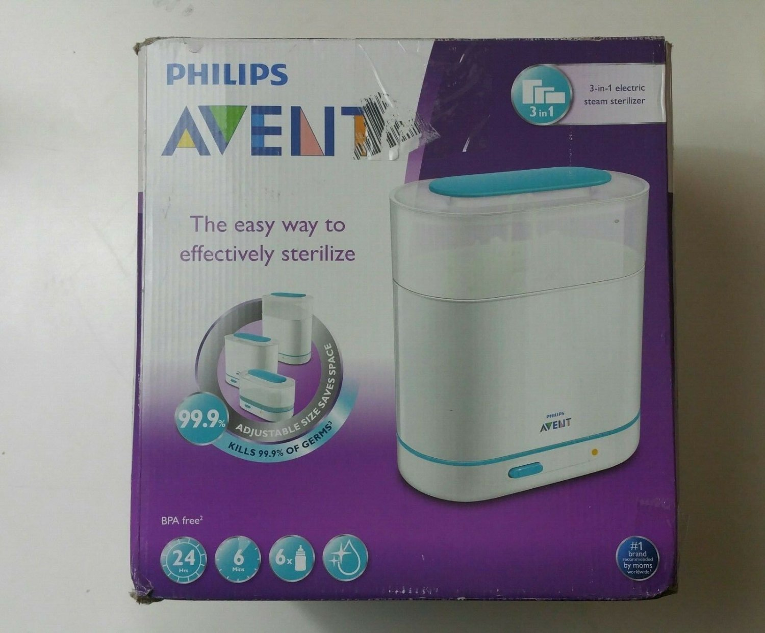 Philips AVENT 3-in-1 Electric Baby Bottle Steam Sterilizer