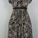 Motherhood Maternity dress S Brown floral Short sleeve banded scoop neck