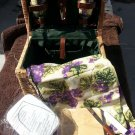 Romantic Napa Wine and cheese basket for two w/ wine glasses, tablecloth Picnic!