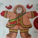 Woodland Santa Fabric Panel Cut and Sew Wall Hanging 1991 Cardinal Tree