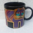 LAUREL BURCH GOLD, PURPLE & TEAL LION COFFEE MUG