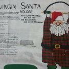 Swinging Santa Fabric Panel Cut and Sew Wall Hanging  Christmas Card Gift Holder