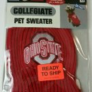 Pets First Collegiate Ohio State Buckeyes Pet Sweater, X-Small