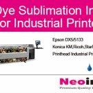 Dye Sublimation Inks For Industrial Printers 4 Colors X 5000ml Free Shipping
