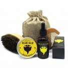 BellyLady Men's Moustache and Beard, Cream Oil Kit with Moustache Comb Brush and