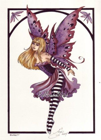 NEW AMY BROWN Print SWEET FAERY 8.5 x 11 FAIRY Fairies