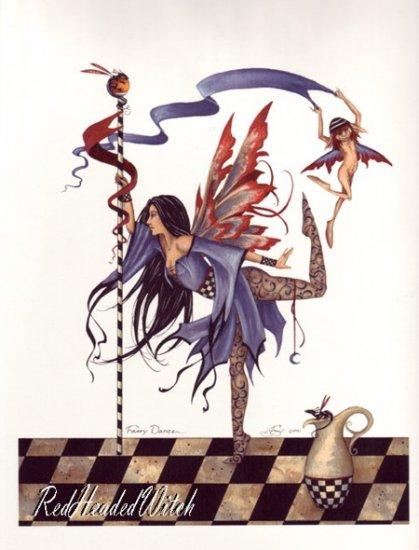 AMY BROWN Print FAERY DANCER 8.5 x 11 Fairies Fairy FAE