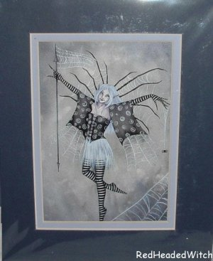 AMY BROWN Print WEB DANCER Fae FAIRY MATTED Print