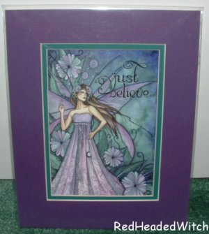JESSICA GALBRETH Print JUST BELIEVE Matted Fairy FAE