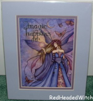 JESSICA GALBRETH Print MAGIC HAPPENS Matted Fairy FAE