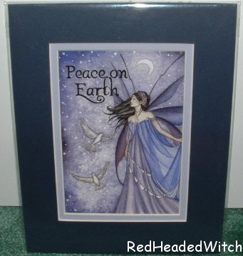 JESSICA GALBRETH Print PEACE ON EARTH Matted Fairy FAE