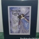 JESSICA GALBRETH Print PEACE ON EARTH Matted Fairy FAE