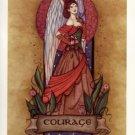 NEW JESSICA GALBRETH Print COURAGE ANGEL 8.5 x 11 Fairy
