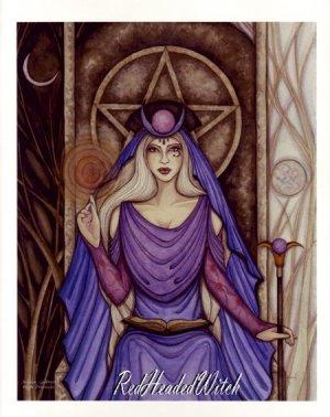 NEW JESSICA GALBRETH Print HIGH PRIESTESS Wiccan PAGAN