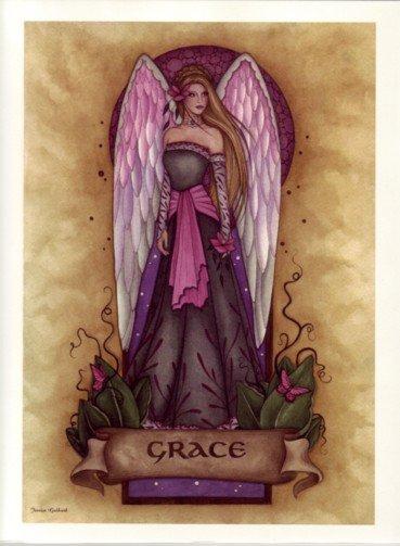 NEW JESSICA GALBRETH Print GRACE ANGEL 8.5 x 11 Fairy