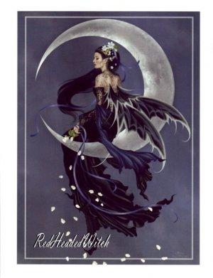 NEW NENE THOMAS Print SOLACE Moon FAERY FAIRY Fae
