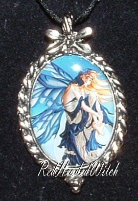 Nene Thomas BLUE DREAM FAIRY CAMEO PENDANT Necklace FAE