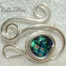 SWIRL PIN Pendant STERLING SILVER Green Peach Blue New