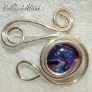 SWIRL PIN Pendant STERLING SILVER PURPLE PINK NEW